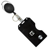 Carabiner Badge Reel with Multi Card Hard Plastic ID Badge ...