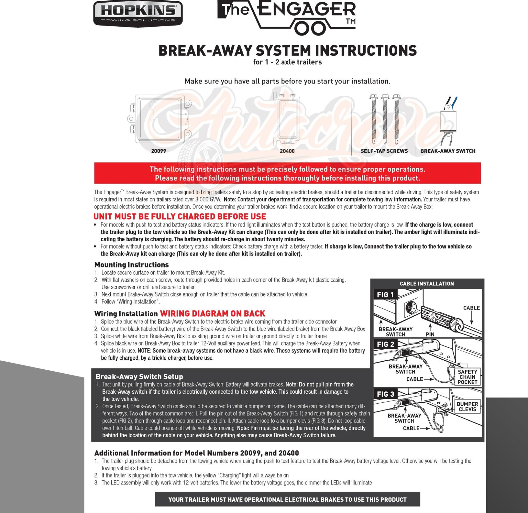 hight resolution of break away unit trailer hopkins breakaway switch system kit switch only hopkins