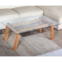 Retro Scandinavian Modern Danish Glass Wooden Coffee Table ...