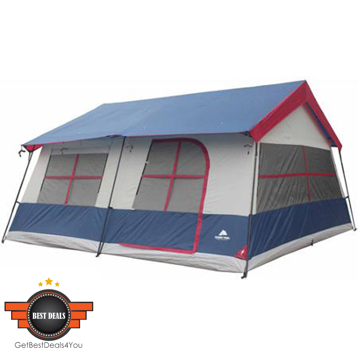 Camping Ozark 14 Person 3 Room Cabin Tent Waterproof Fishing Large Family