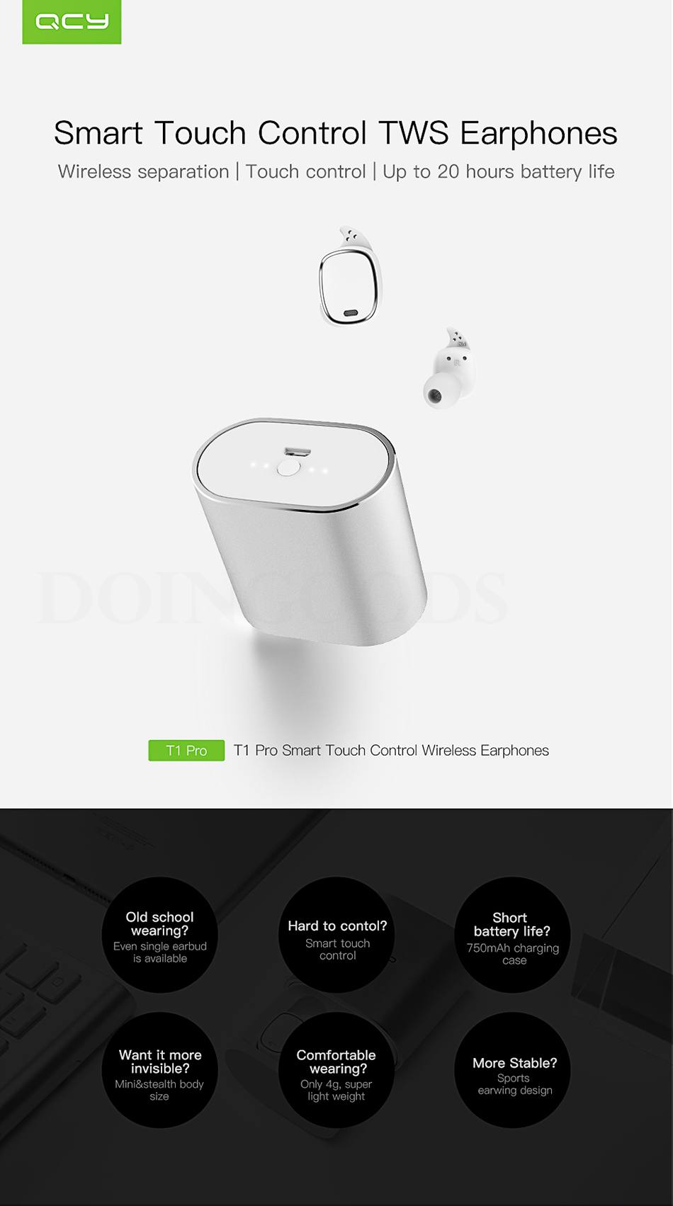 wireless t1 diagram wiring diagram centre details about qcy t1 pro wireless headset earphone bluetooth with [ 950 x 1703 Pixel ]