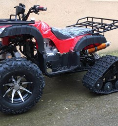 250cc zongshen water cooled motor manual clutch crawling tracks wheels quad atv [ 1295 x 869 Pixel ]