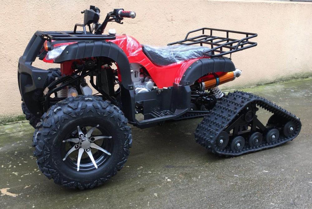 medium resolution of 250cc zongshen water cooled motor manual clutch crawling tracks wheels quad atv