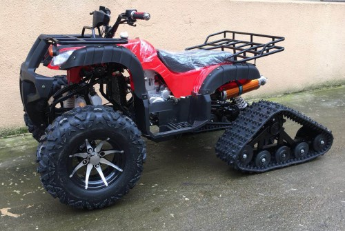 small resolution of 250cc zongshen water cooled motor manual clutch crawling tracks wheels quad atv