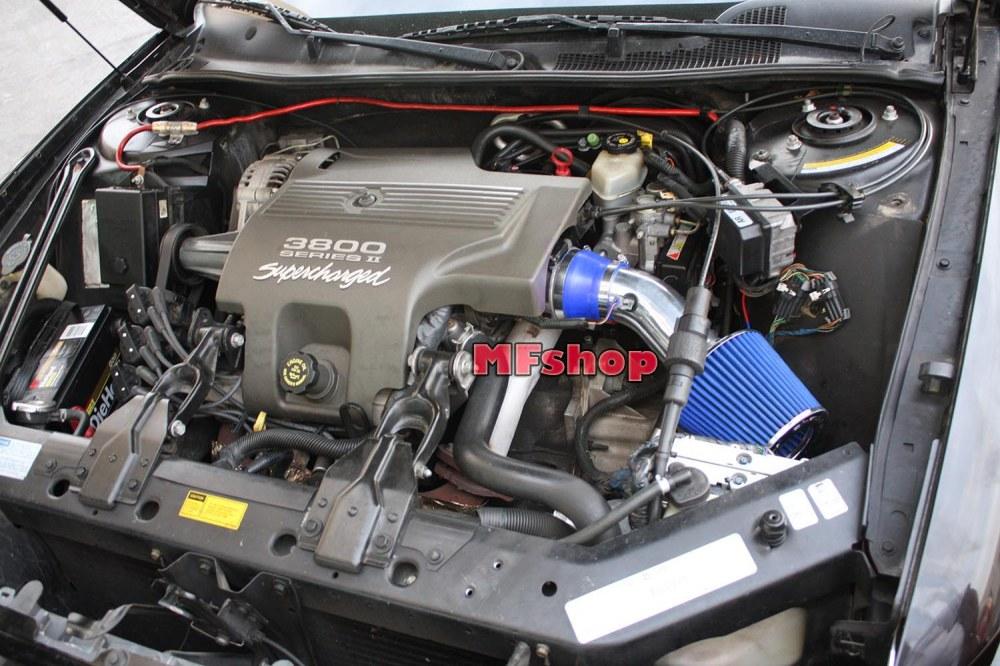 medium resolution of blue for 1997 2005 buick regal 3 8l v6 air intake system kit filter