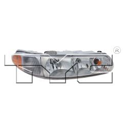 details about right side headlight assembly for 1997 2004 buick regal 1997 2005 century [ 1500 x 1500 Pixel ]