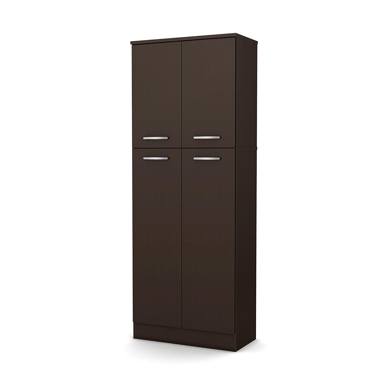 NEW Pantry Storage Cabinet Shelving Laundry Room Closet Doors Organizer Utility  eBay