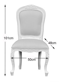 Chantilly Bedroom Chair - French Ivory Oatmeal upholstery ...