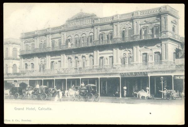 Details About India Famous Grand Hotel Calcutta Old Upu Unused Ppc