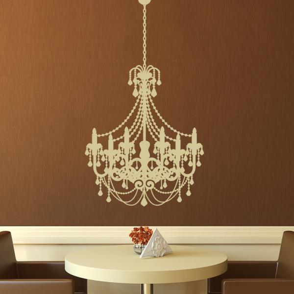 Old Fashioned Chandelier Wall Art Sticker As10020