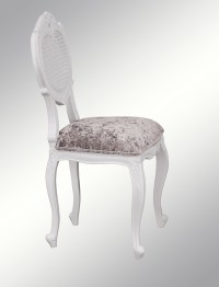 French Louis XV Renee Bedroom Chair - White colour with ...