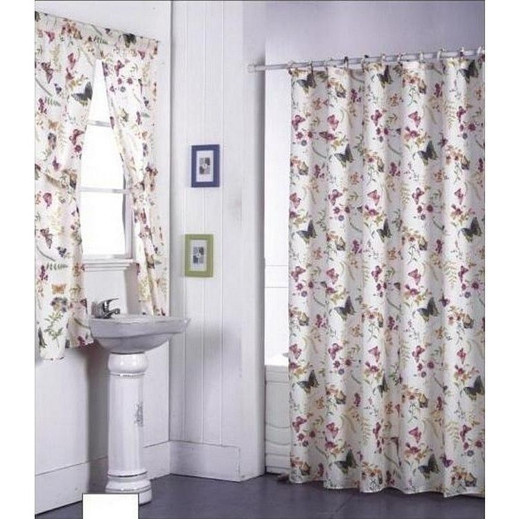 NEW Floral Butterflies 72 in Shower Curtain Fabric