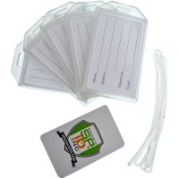 25 Pack - Heavy Duty Rigid Luggage Tag Holders with ...