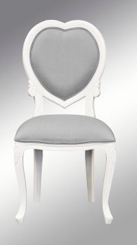 French Louis XV Medee Bedroom Chair - White with grey ...