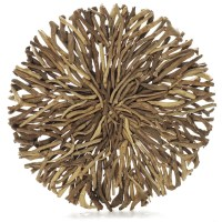 Driftwood Round Wall Hanging Art Indoor Outdoor