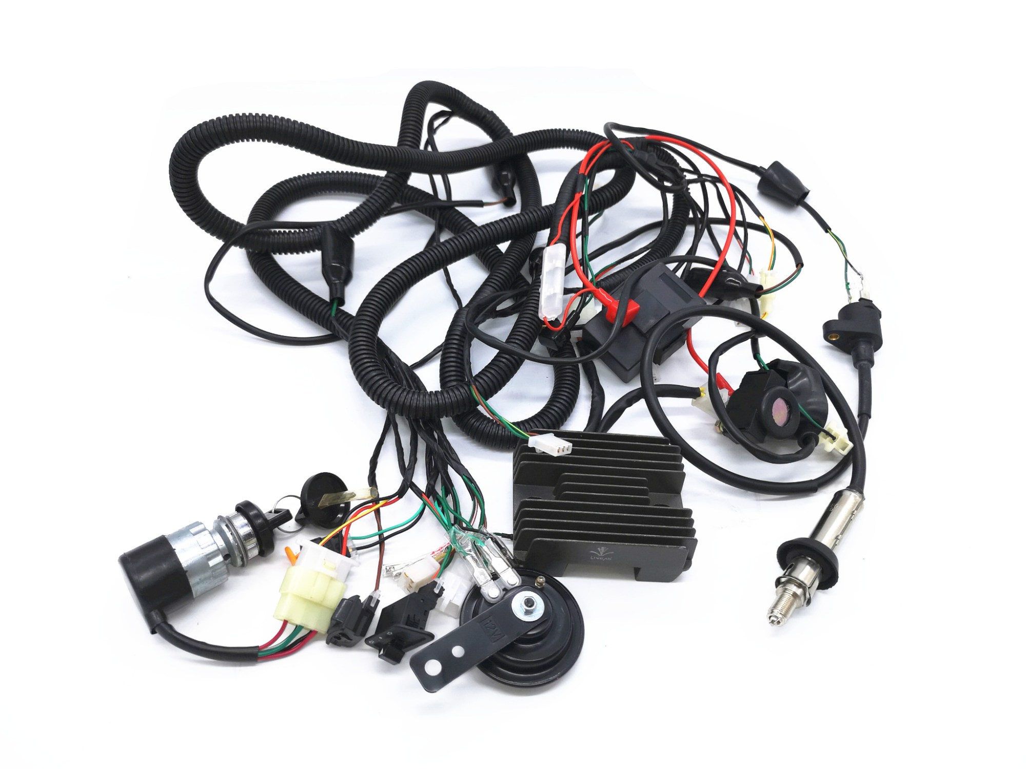 hight resolution of cf250 gy6 250cc kandi kinroad buggy complete wiring loom harness components