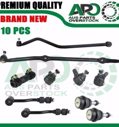 details about jeep wrangler tj 96 06 drag link tie rod end ball joint sway bar link sleeve lhd [ 1600 x 1575 Pixel ]