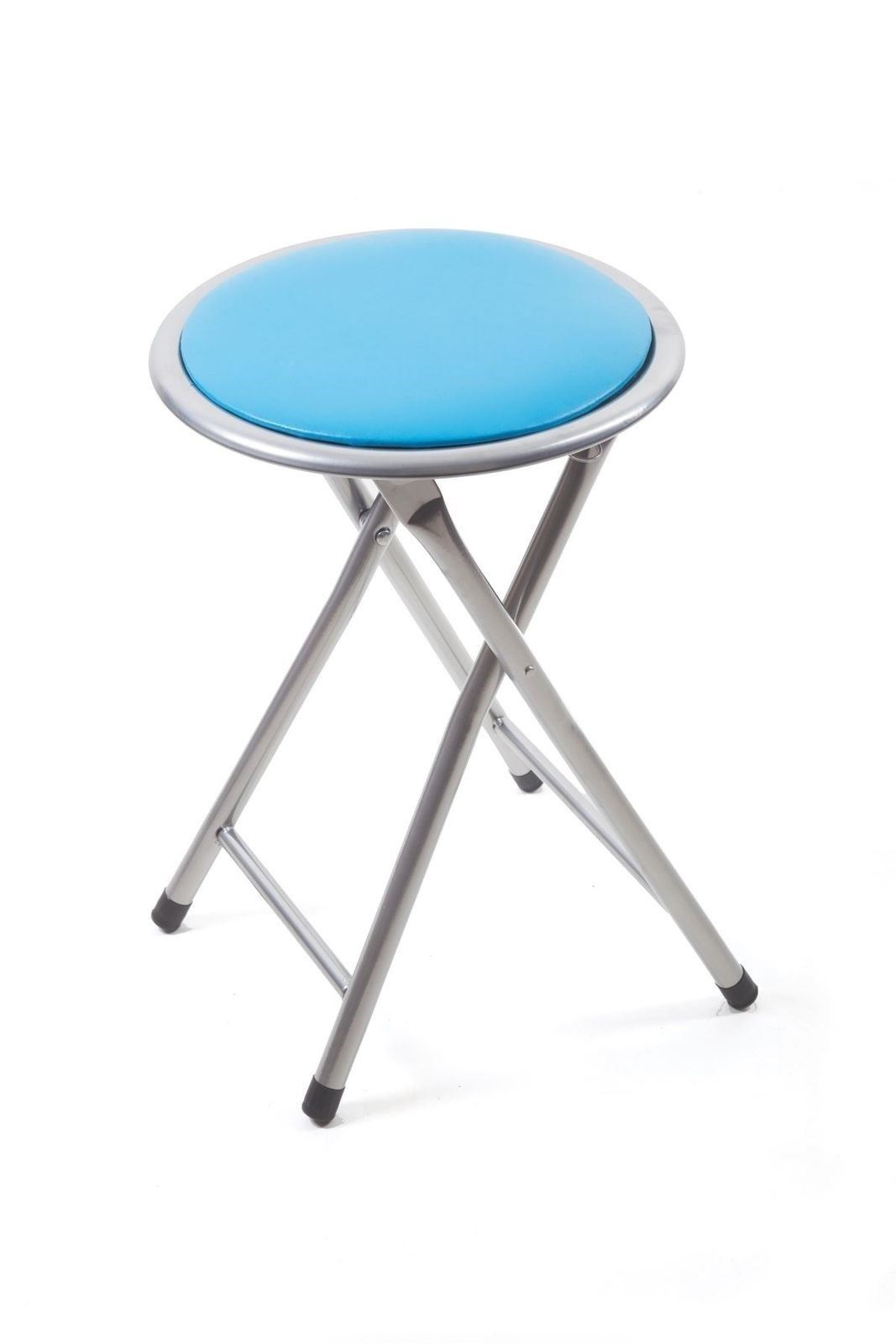 Small Fold Up Chair Details About 45cm Blue Round Folding Padded Stool Foldable Chair Small Fold Up Chairs Office