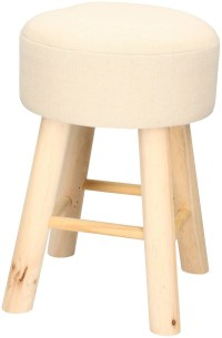 Dressing Table Stool Bedroom Wooden Leg Fabric Bench ...