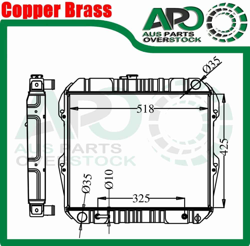 medium resolution of 3 core copper brass radiator toyota hilux 83 97 rn85 yn85 rn90 22r 4cyl petrol