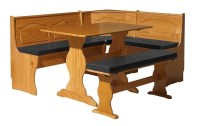 NEW Breakfast Bar Nook Dining Set Corner Bench Booth 4 Pc ...