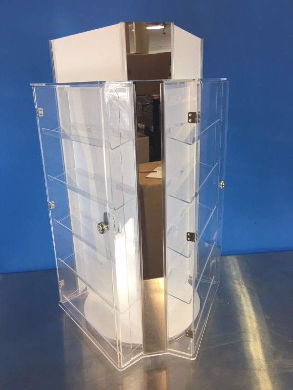 Jewelry Display Case Stand Sunglasses & Earring 3-side