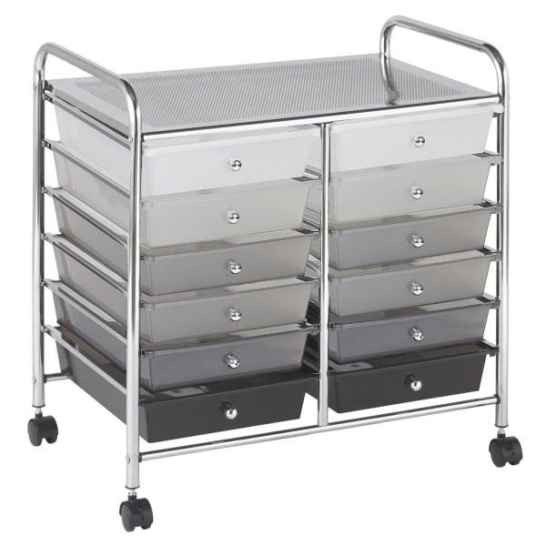 Rolling Storage Organization 12 Shelves Plastic