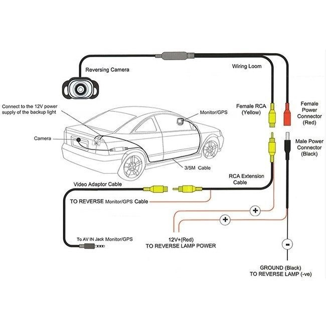 wiring diagram rear view camera