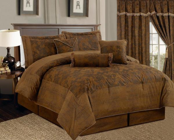 full queen cal king bed brown camel