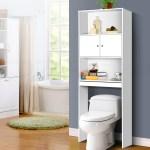 Over The Toilet Storage Unit White Bathroom Furniture Cupboard Shelf Cabinet 9350062137086 Ebay