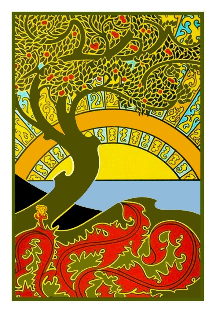 Art Deco Tree : Gisbert, Combaz, Nouveau, Earth, Counted, Cross, Stitch, Chart, Pattern, 769572899442
