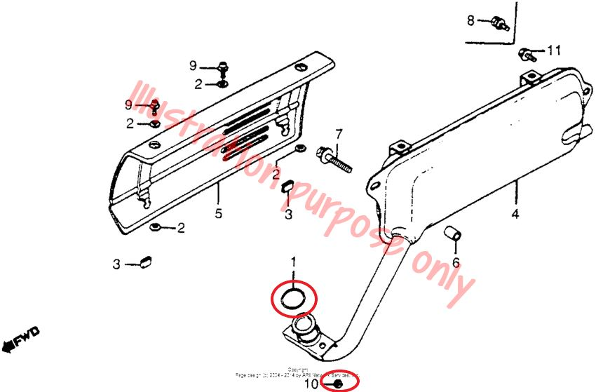 Exhaust Manifold Gasket Repair Set Honda NA50, NC50, NU50