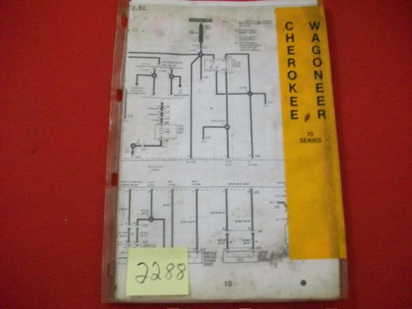 details about 1987 amc jeep service wiring diagram set 70 series cherokee  wagoneer comanche