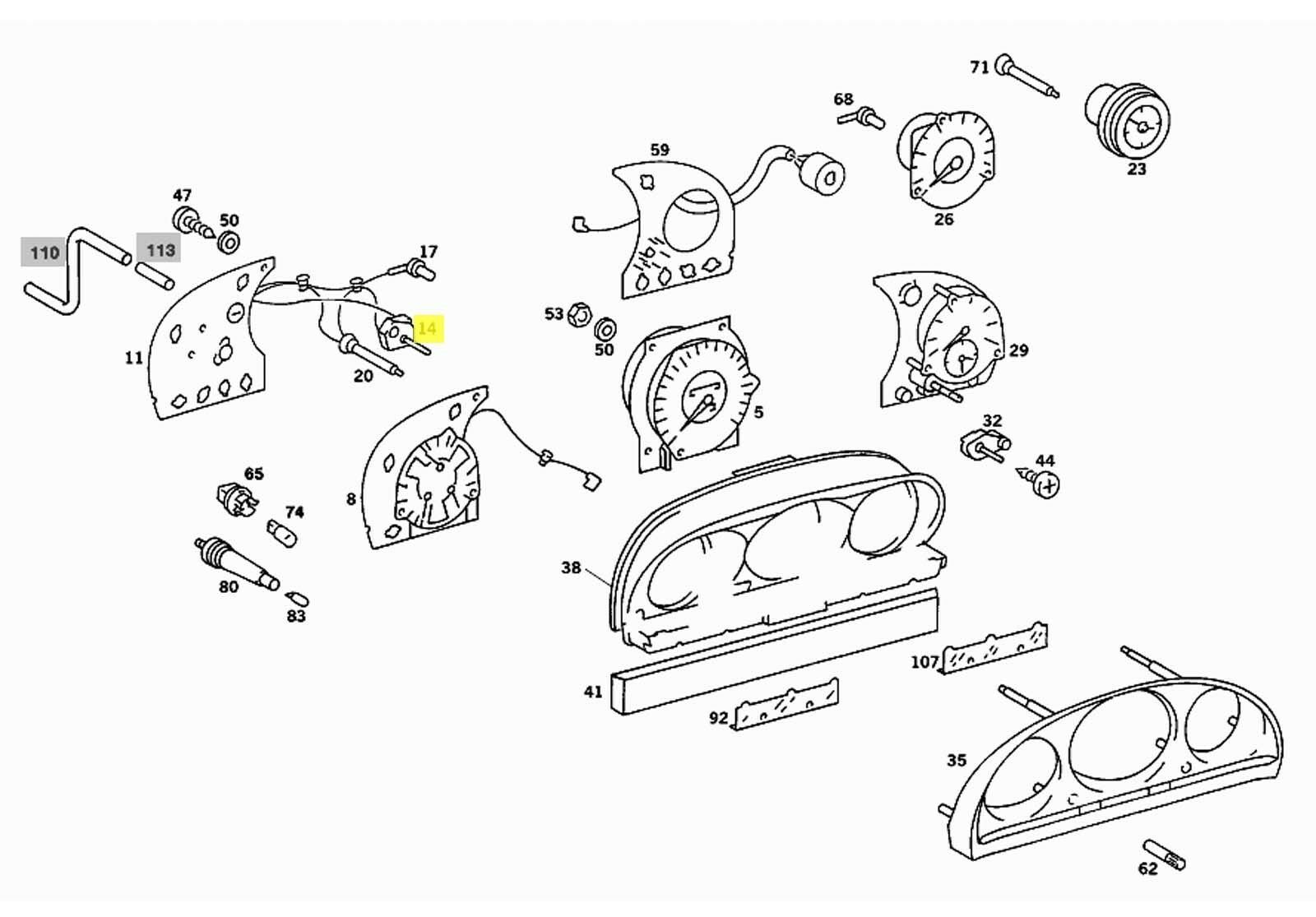 Mercedes Rheostat/Potentiometer for Instrument Panel