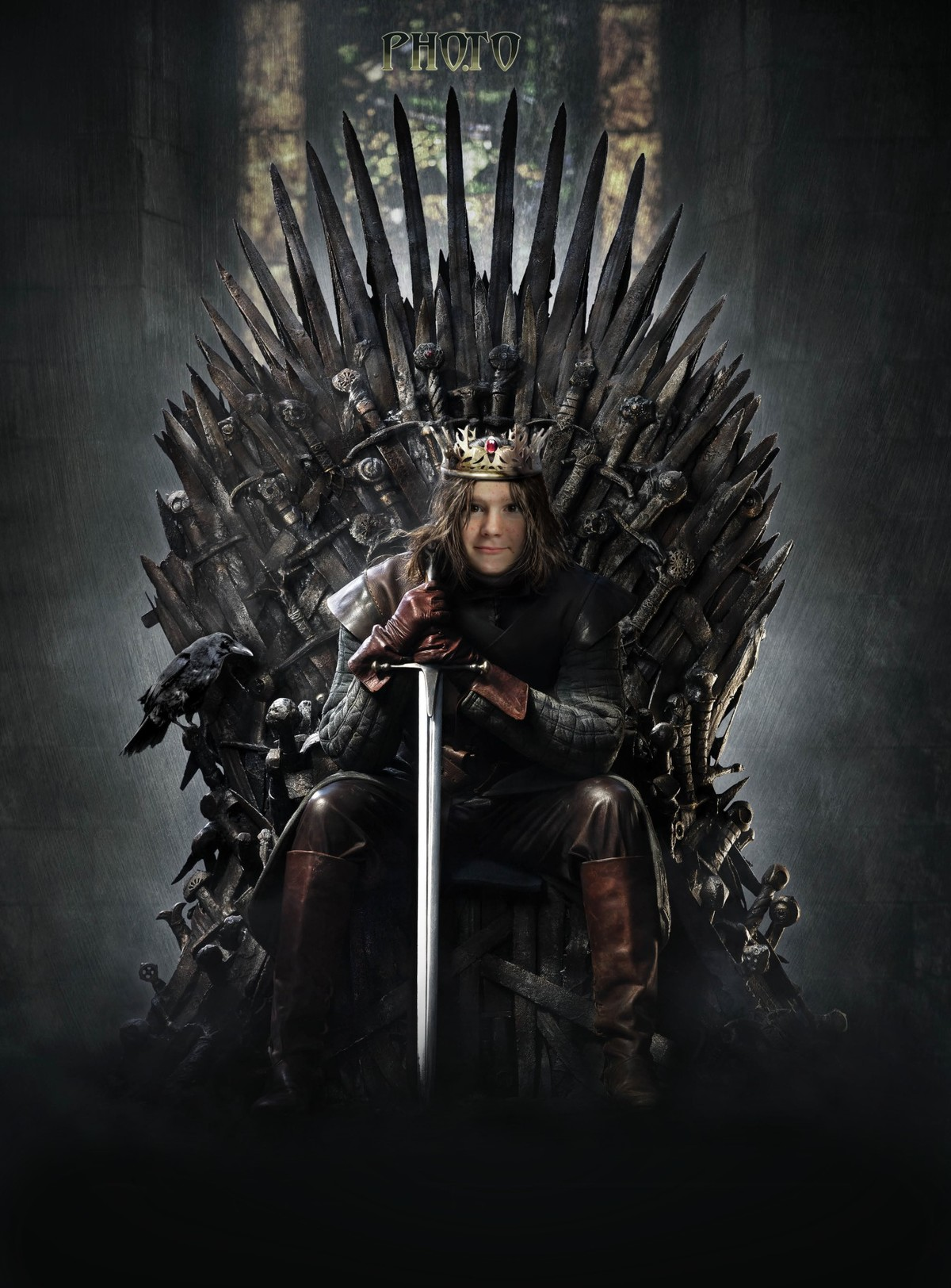 iron throne chair cover dinner table and chairs sit on the with game of thrones face montage now this king template