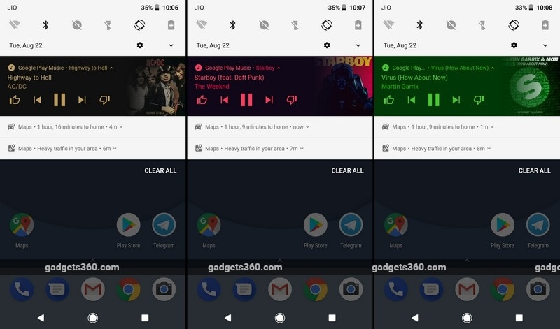 Android Oreo Music Notifications NDTV Android Oreo Music Notifications