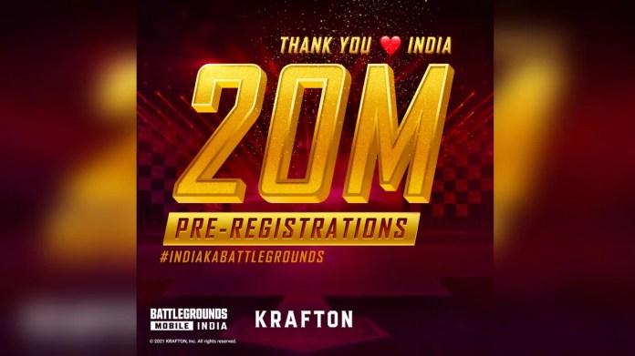Battlegrounds Mobile India Pre-Registrations Cross 20-Million Mark