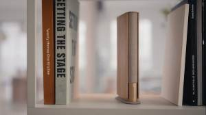 Bang & Olufsen introduced Beosound with a 120 W output, launching a unique book-like design