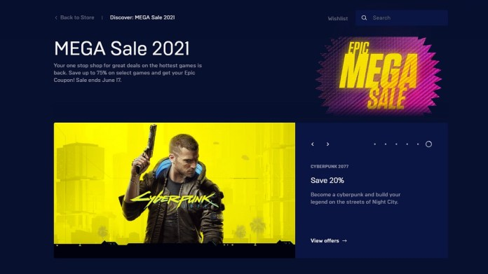 Epic Games Store Mega Sale 2021 Brings Discounts,  Coupons on Games