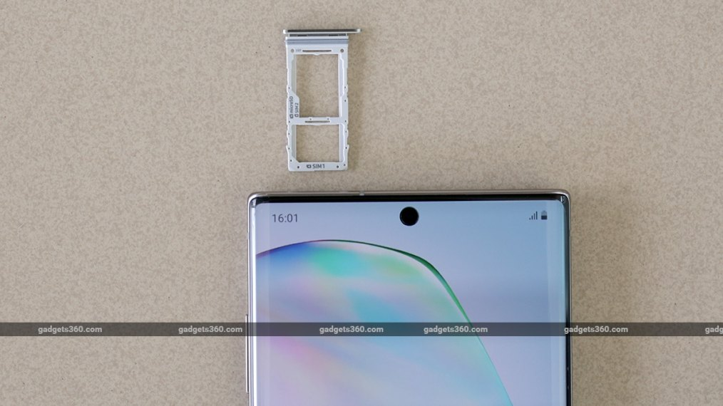 Galaxy Note 10 Plus Review SIM Tray Samsung Galaxy Note 10  Review