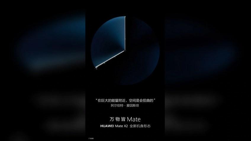 Huawei Mate X2 Inward Folding Screen Teased Once Again