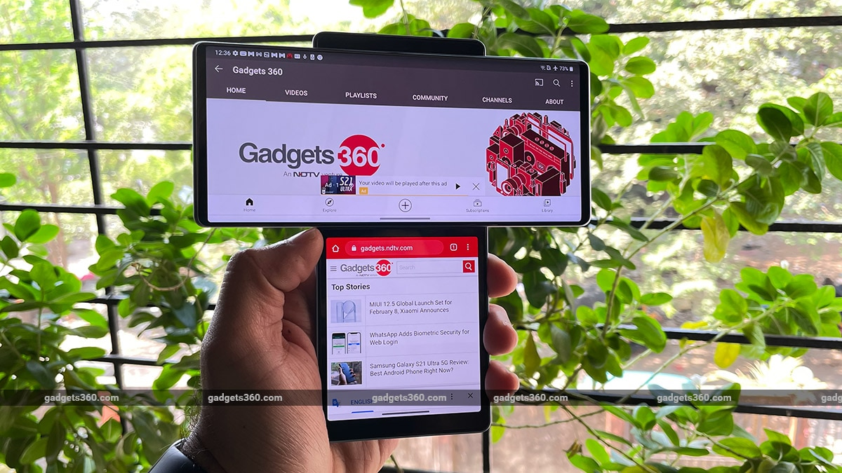 The light of the LG dual screen apps Wing Wing Review