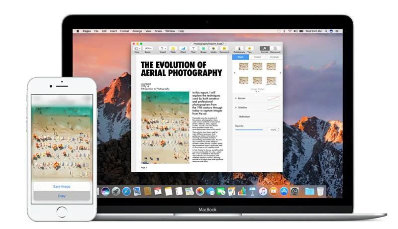 كيفية نسخ لصق النص والصور بين جهاز iPhone و Mac