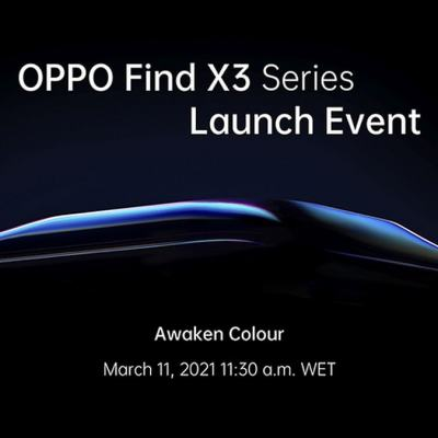 Oppo Find X3 Pro With Snapdragon 888 SoC to Launch Globally on March 11