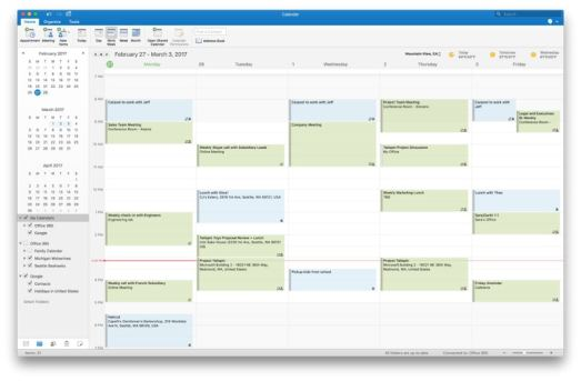 Microsoft Outlook for Mac to Add Google Calendar, Contacts Support
