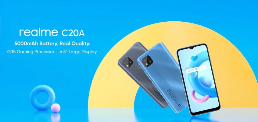 Realme C20A With MediaTek Helio G35 SoC, 6.5-Inch Display Teased