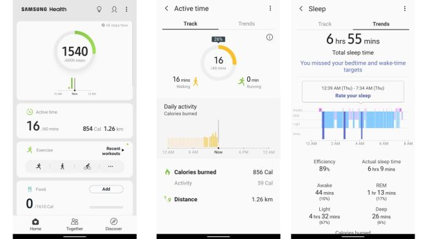 Samsung Galaxy Watch Active Software Samsung Galaxy Watch Active Review