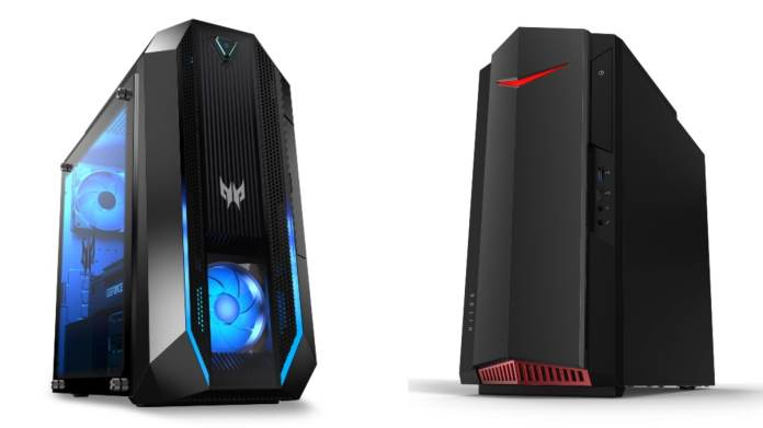 Acer Predator Orion 3000, Acer Nitro 50 Gaming Desktop PCs Refreshed