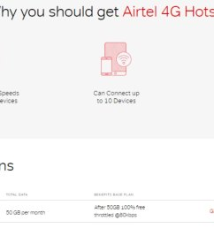 airtel 4g hotspot with 50gb monthly data now priced at rs 399 per month [ 1200 x 675 Pixel ]