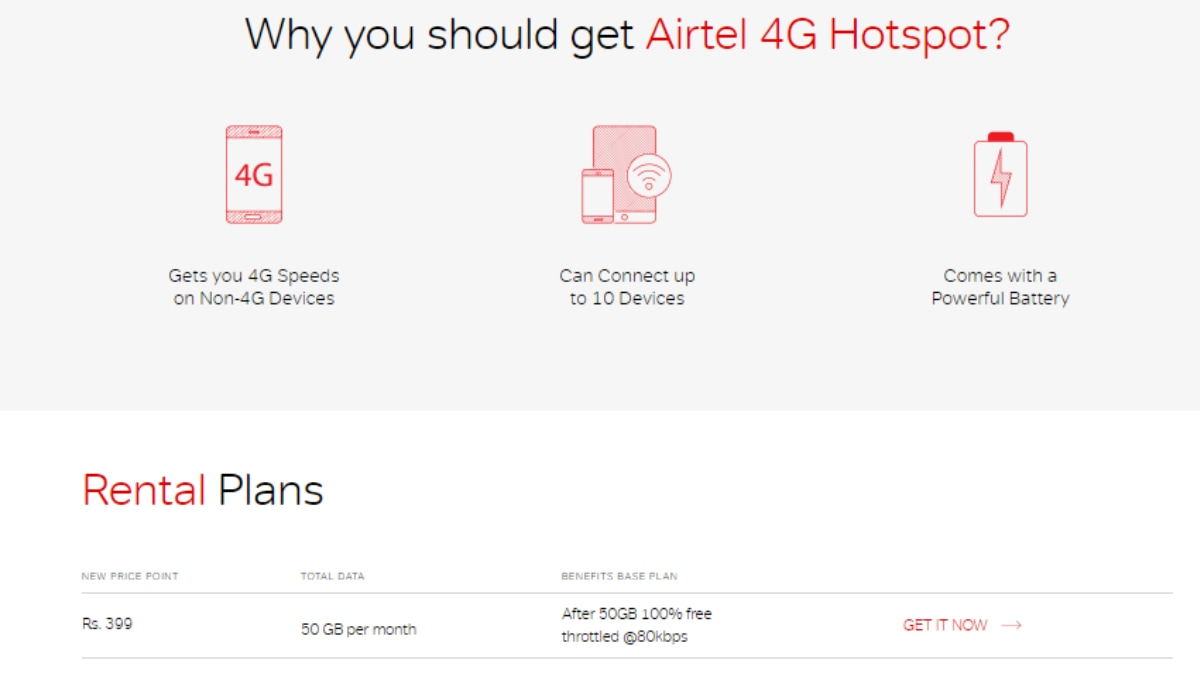 hight resolution of airtel 4g hotspot with 50gb monthly data now priced at rs 399 per month